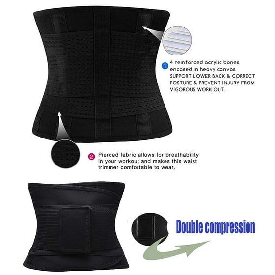 5be43c7ca47 beautytale - Waist Trainer Belt Waist Cincher Trimmer Slimming Body Shaper  Belts Sport Girdle for Women - Black (XXXL) - Walmart.com