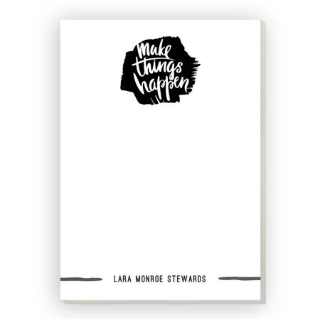 Make Things Happen Personalized Notepad