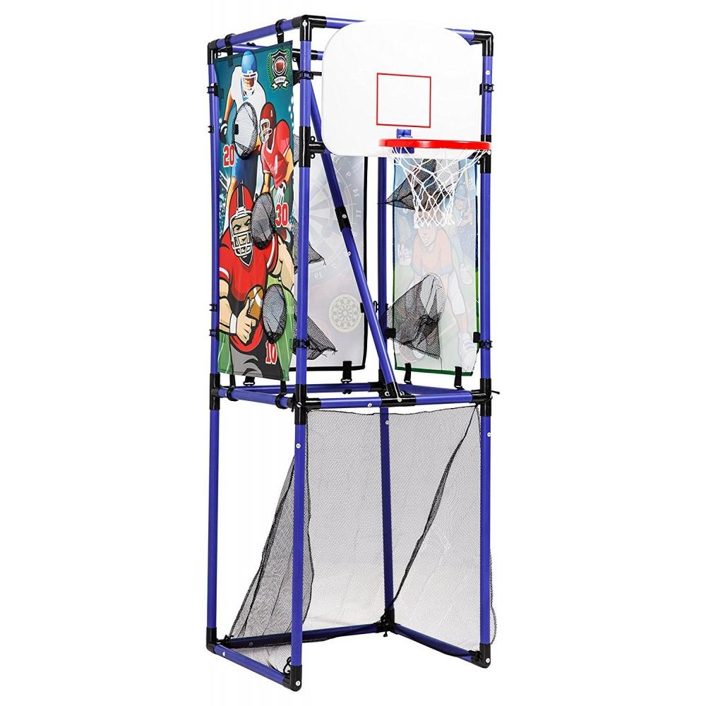 Sport Squad 5-in-1 Multi-Sport Game Set, 3ct Footballs, 3ct Baseballs, 4ct Suction-Cup Darts, 1ct Basketball, 1ct Soccer