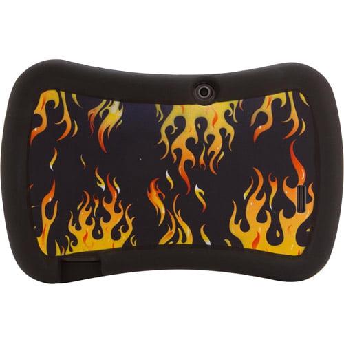"""7"""" Tablet Universal Grip Safe Case, Orange Flame"""