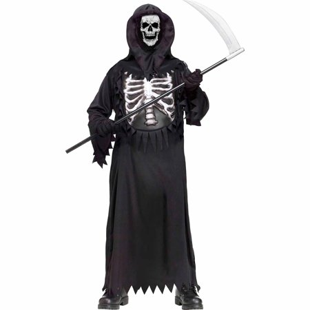 Fun World Glow Chest Reaper Child Halloween Costume
