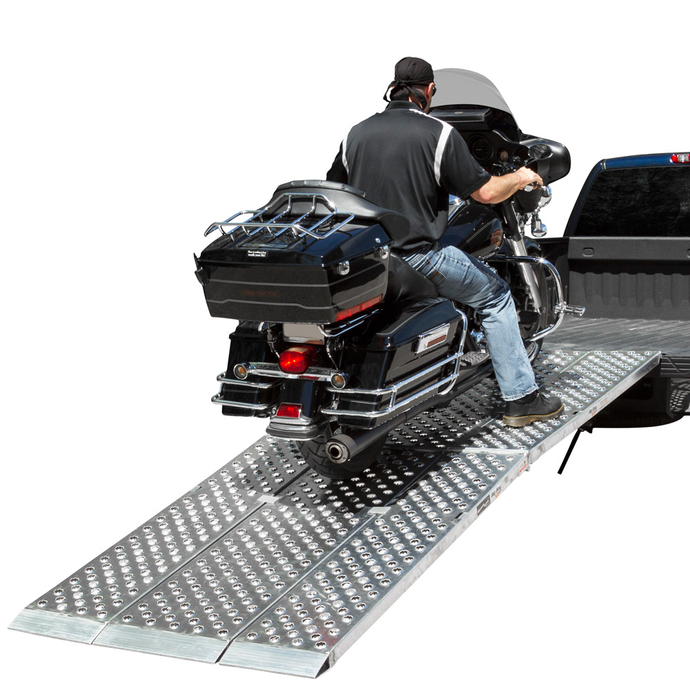 Folding 3-pc EZ-Rizer Aluminum Motorcycle Loading Ramp System