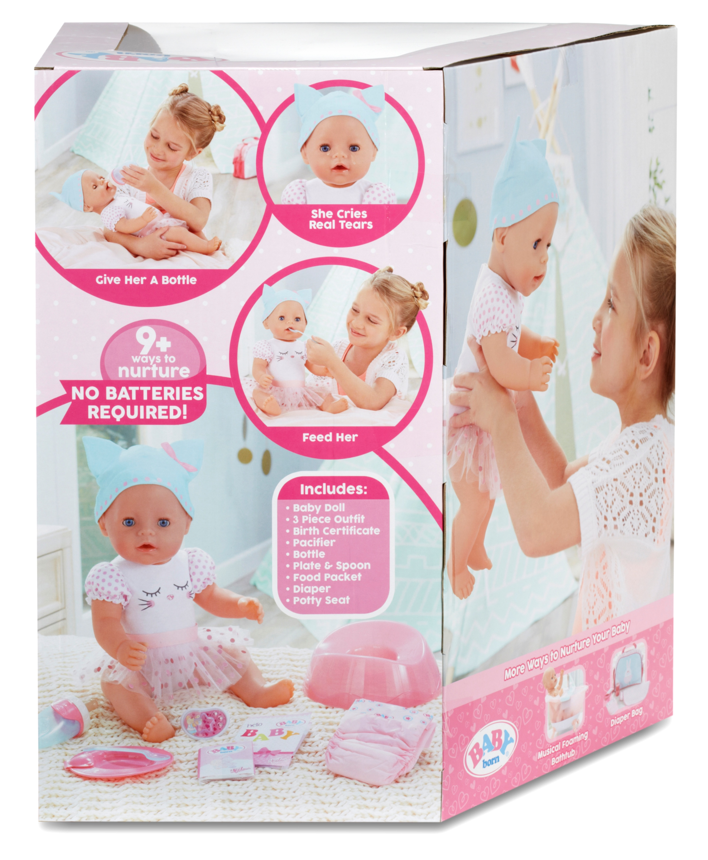 Baby Born Interactive Doll Blue Eyes Walmartcom