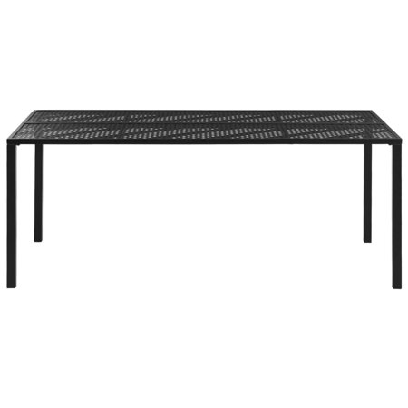 HERCHR Outdoor Dining Table Steel 70.9
