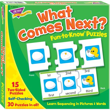 Trend, TEP36016, What Comes Next Fun-to-know Puzzles, 1 Each