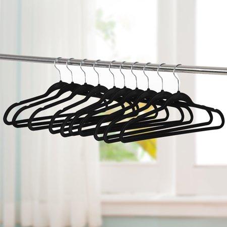 Non-Slip Velvet Hangers-360 Degree Swivel Clothes Hangers for Coats, Jackets, Pants, and Dress Clothes (100Pcs)