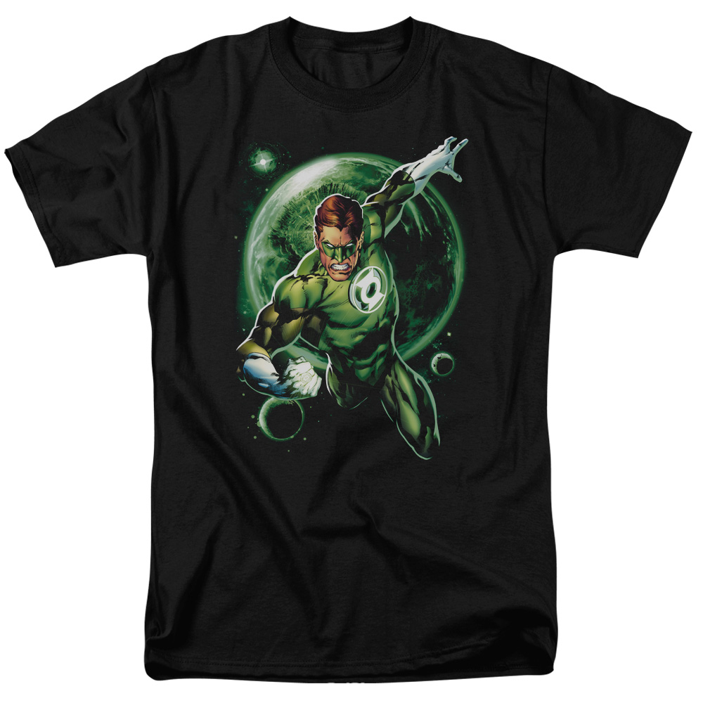 Green Lantern Galaxy Glow Mens Short Sleeve Shirt