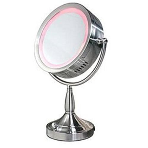 Zadro RDV68 Double-Sided Lighted 1X-8X - Satin Nickel Mirror