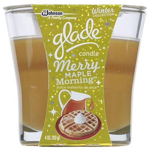 Glade Merry Maple Morning Jar Candle, 4 oz