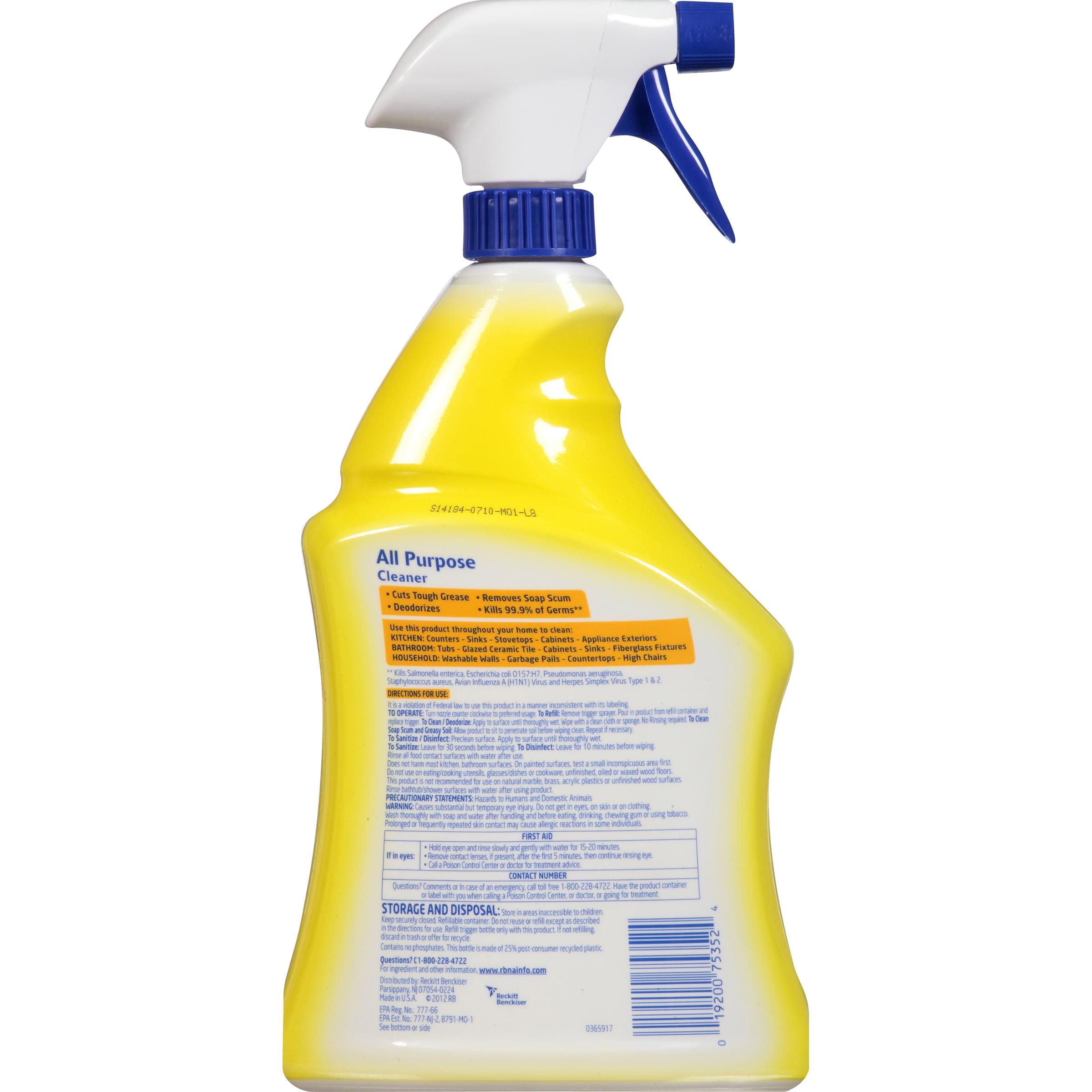All purpose bathroom cleaner - Lysol Brand Ii Ready To Use All Purpose Cleaner Lemon Breeze 32oz Spray Bottle Walmart Com