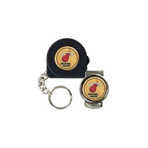 Great American Products Ktpmmc2214 6 Ft.  Tape Measure Key Chain & Money Clip Set- Nba Heat