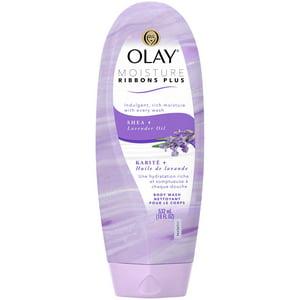 Creme Olay Moisture Ribbons Plus Shea + Lavender Oil Body Wash, 18 oz