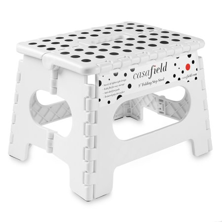 Casafield 9 Quot Folding Step Stool With Handle Portable
