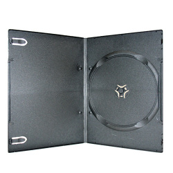 4mm Ultra Slim Single Black DVD Case (100 pack)