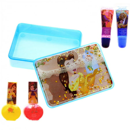 DIsney Princess Beauty and the Beast Girls Hair Clips and Accessories Gift Set - Beauty And The Beast Teacup Chip