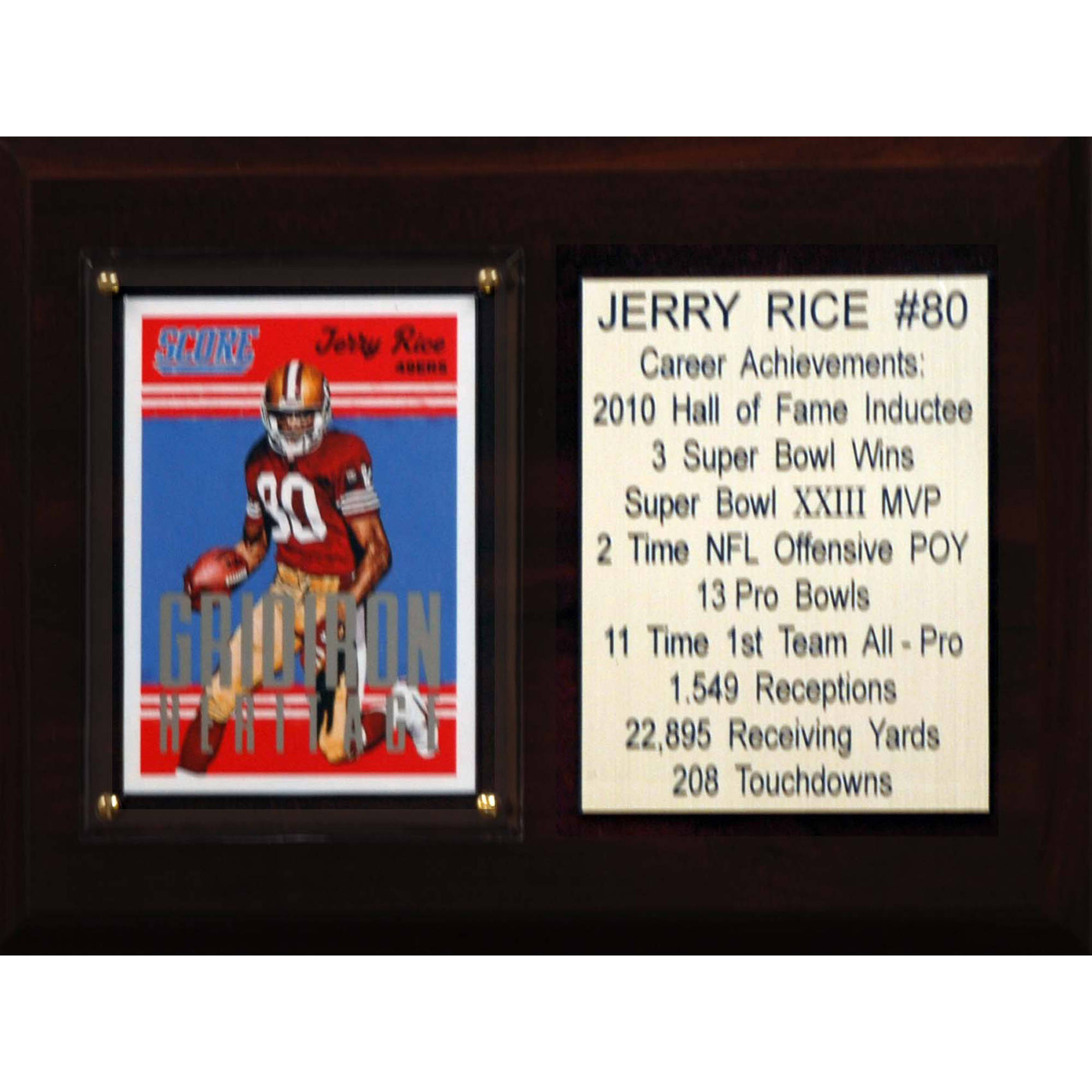 C&I Collectables NFL 6x8 Jerry Rice San Francisco 49ers Career Stat Plaque