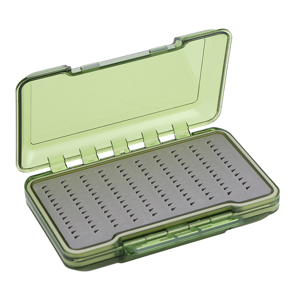 Lv. life Plastic Fly Fishing Baits Box Foam Padded Lures Holder Case Tackle Accessory, Lure Box, Fly Lure Holder by