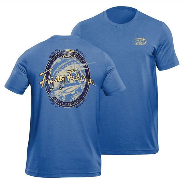 Flying Fisherman T1711RXL Beer Label T-Shirt, True Royal - Extra Large - image 1 de 1