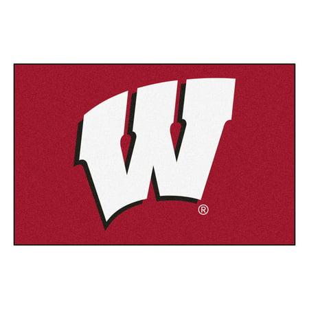 NCAA University of Wisconsin Badgers Starter Mat Rectangular Area Rug