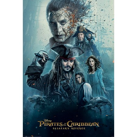 - Pirates Of The Caribbean: Dead Men Tell No Tales - Movie Poster / Print (International Regular Style - Salazar's Revenge) (Size: 24