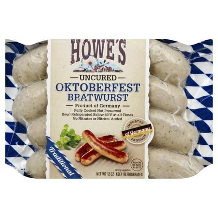 German Sausage Bratwurst (Abraham Of North America Howes  Bratwurst, 12)