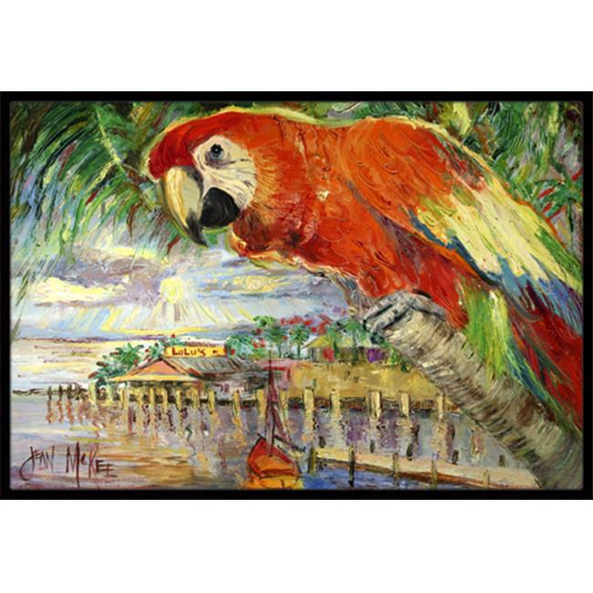 Carolines Treasures JMK1134MAT Red Parrot At Lulus Indoor & Outdoor Mat, 18 x 27 in. - image 1 of 1