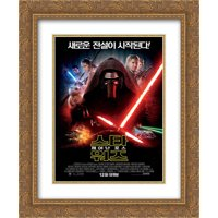 Star Wars: The Force Awakens 20x24 Double Matted Gold Ornate Framed Movie Poster Art Print
