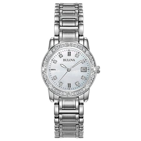 Bulova Women's Diamond Accent Watch with Mother-of-Pearl Dial
