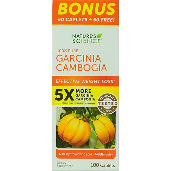 Natures Science 100 Pure Garcinia Camobia Weight Loss Ct 100 Ct