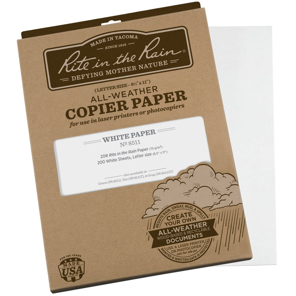 "All-Weather Copier Paper, 8 1/2"" x 11"", 20# White, 200 Sheet Pack (No. 8511)"