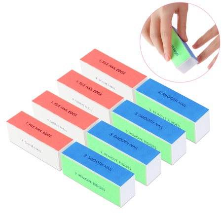 (TINKSKY 10pcs Washable 4-Way Nail Shiner Sponge Nail Files Nail Buffers Sanding Blocks)