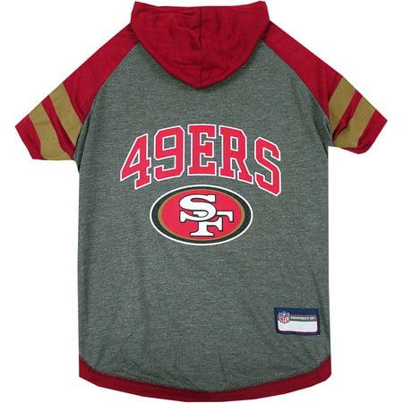 Halloween Store In San Francisco (Pets First NFL San Francisco 49ers Pet Hoodie Tee)