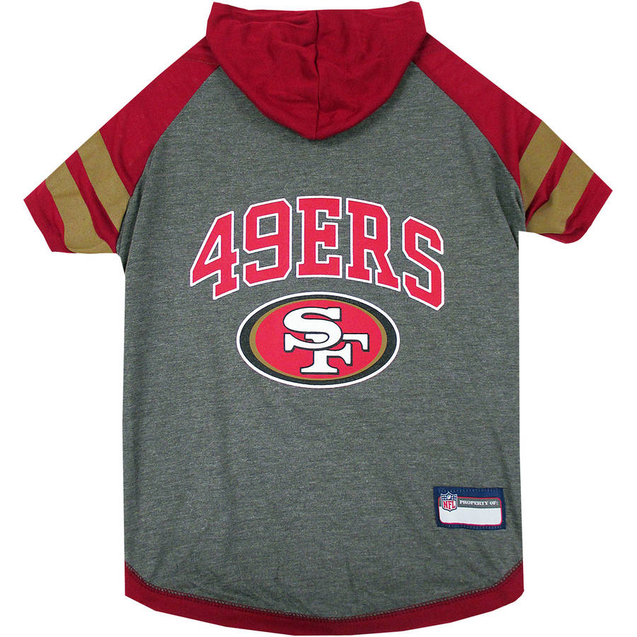 Pets First NFL San Francisco 49ers Pet Hoodie Tee Shirt