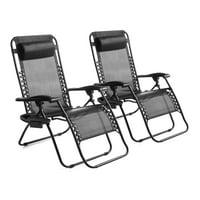 2-Set Mainstays Outdoor Zero Gravity Bungee Lounge Chair