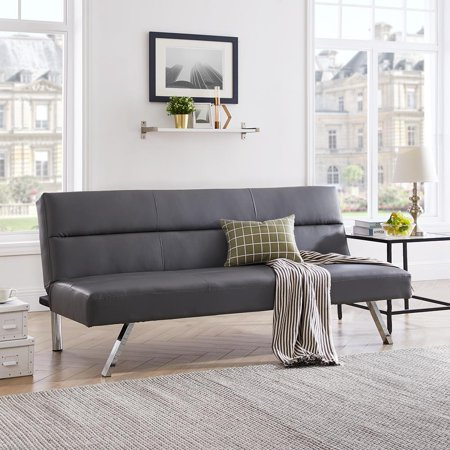 best loved 082f2 50c1f Naomi Home Zoe Futon Sofa-Color:Gray