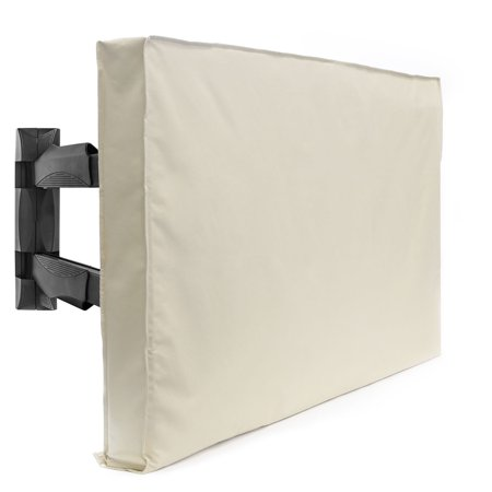 Outdoor TV Cover For Flat Screens – Slim Fit – Weatherproof Weather Dust Resistant Television Protector ()