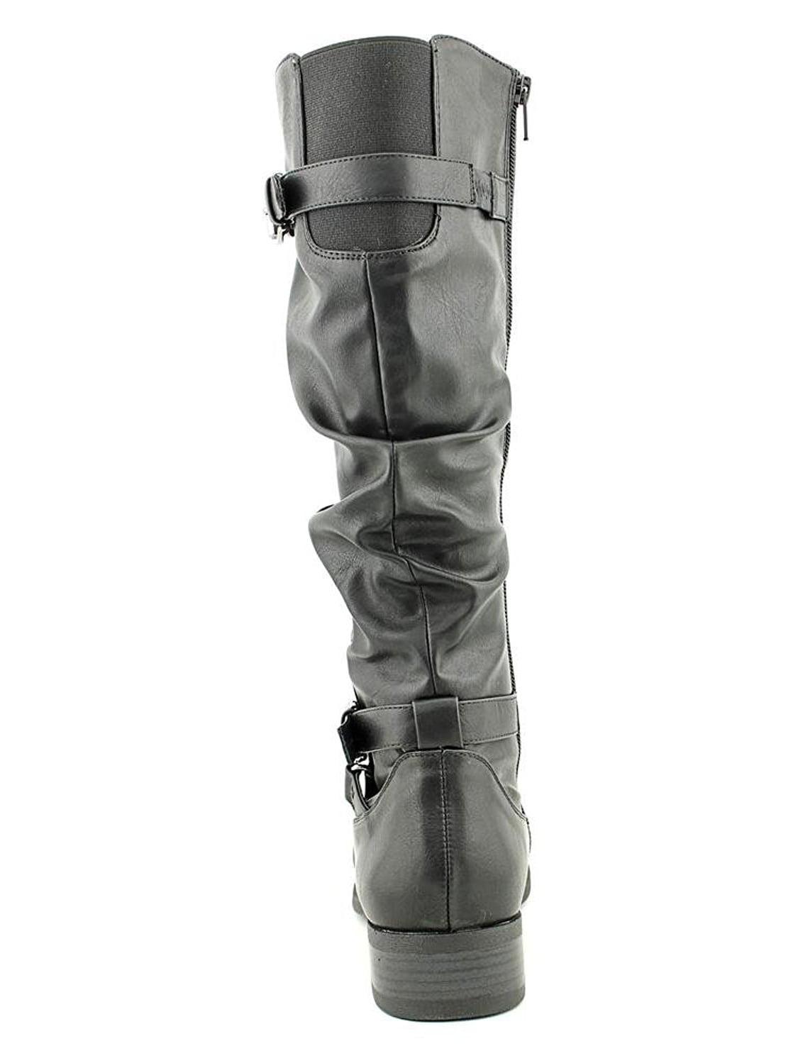 White Mountain Womens Latara Almond Toe Mid-Calf Fashion Boots