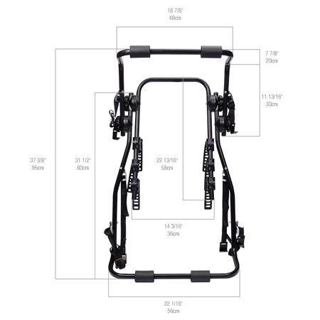 Phat Bike Stand Bicycle Trunk Mount Rack And Carrier For