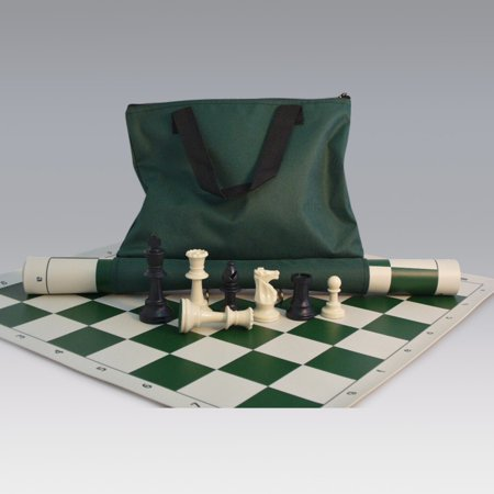 - Tournament Chess Set with Canvas Loop Tote - 3.75 Inch King