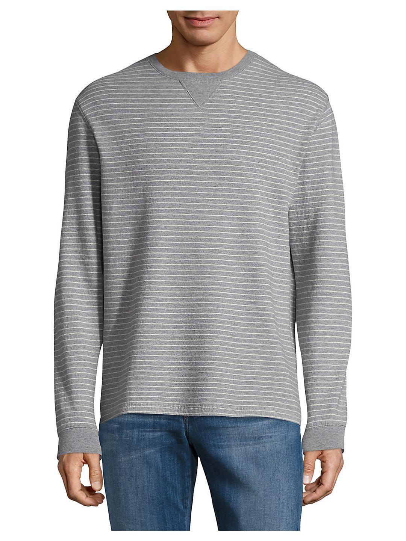 Cotton Stripe Sweatshirt
