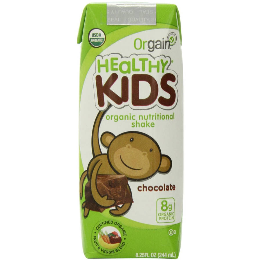 Orgain Healthy Kids Chocolate Organic Nutritional Shake, 8.25 fl oz, (Pack of 12)