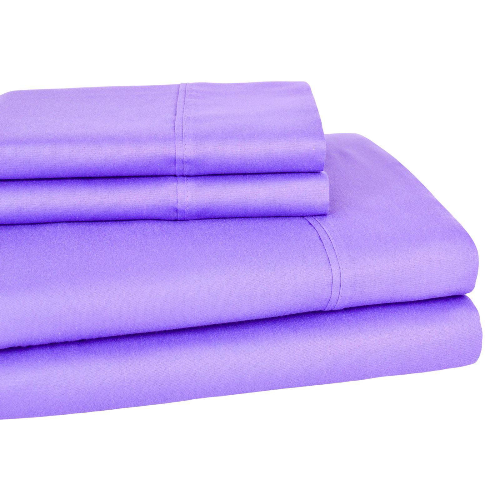 Elite Home 300 Thread Count Wrinkle Resistant Solid Sheet Set