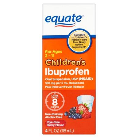 equate Saveur pour enfants Berry Ibuprofène, 4 fl oz