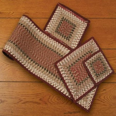 Earth Rugs 55-019 Burgundy-Mustard Square Chair