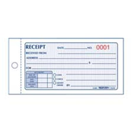 Rediform Office Products RED8L820 Money Receipt- Carbonless- 2 Parts- 2-.75in.x5in.- 50-BK Rediform Two Part