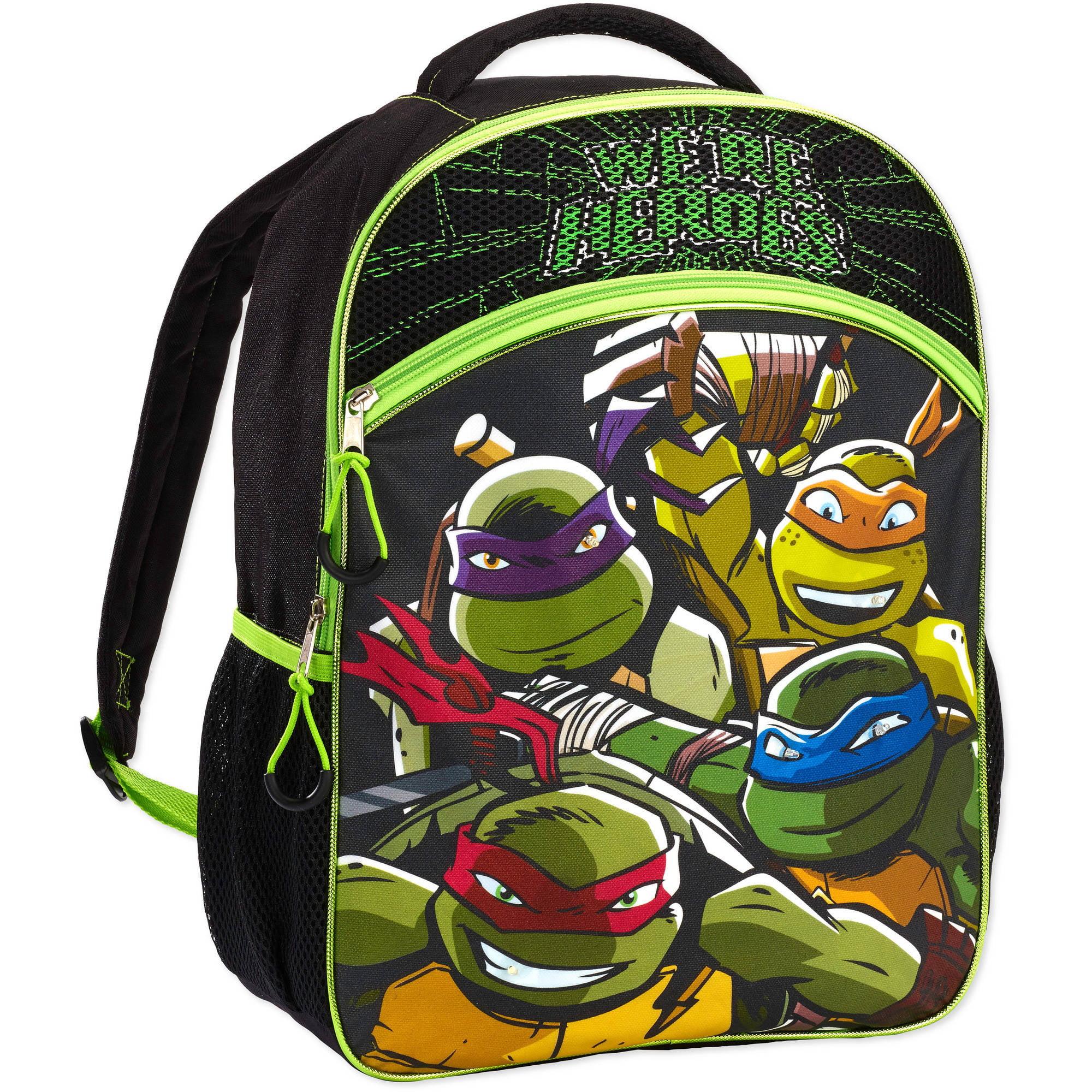 Teenage Mutant Ninja Turtles Heroes Backpack School Travel Action Back Pack