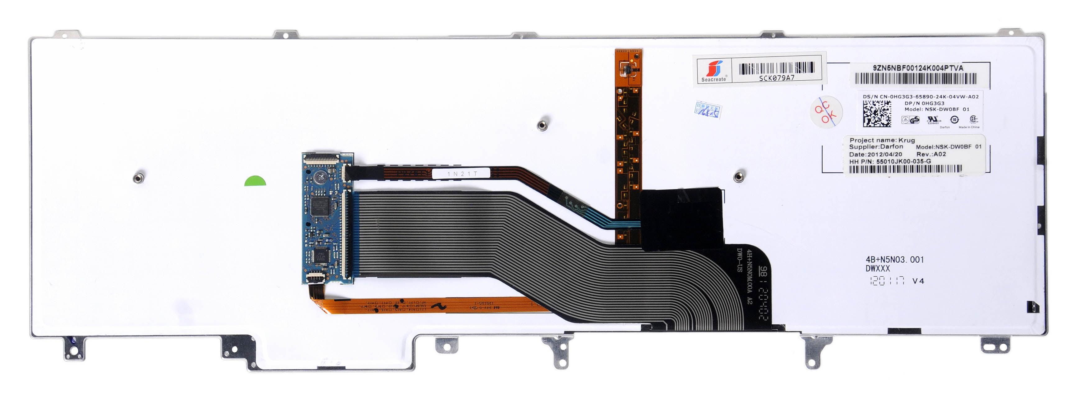 New Original Dell Precision M4600 M4700 M4800 US Keyboard Backlit Pointer