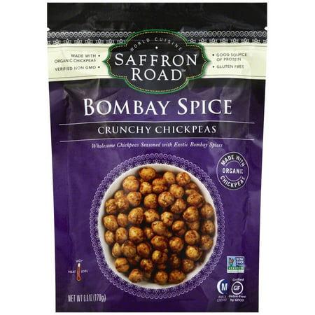 - Saffron Road Bombay Spices Crunchy Chick Peas, 6.0 oz, (Pack of 12)