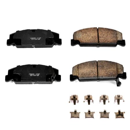 OE Replacement for 1990-2000 Honda Civic Front Disc Brake Pad and Hardware Kit (Base / CX / DX / EX / EX-R / EX-R SIR / GX / HX / LX / RT 4WD / Si / VX / Value Package) 4wd Ex Auto