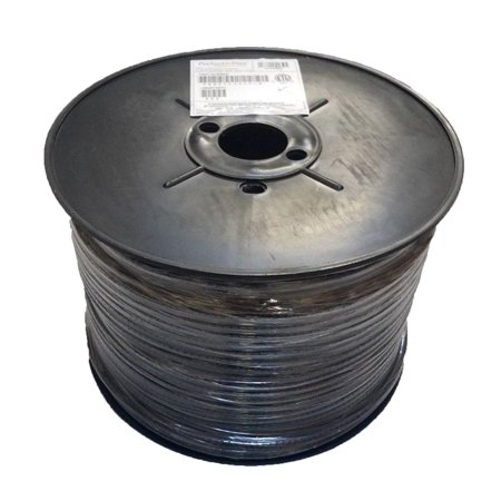 500 FT PPC CATV RG6 Cable SATELLITE BLACK Coaxial 3GHz P6T77VVBFC PERFECT FLEX (500 Foot Rg6)